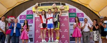 Agnieszka Skalniak (TKK Pacific Nestle Fitness Cycling Team) zwyciężyła w wyścigu juniorek kobiet, zostając nową mistrzynią Polski. Srebro, po zaciętym pojedynku, zdobyła Daria Pikulik (BCM Nowatex Ziemia Darłowska).