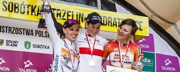 Eugenia Bujak (BTC City Ljubljana) obroniła tytuł mistrzyni Polski w jeździe indywidualnej na czas. Złoto w orliczkach wywalczyła Katarzyna Niewiadoma (Rabo Liv).