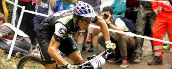 Wyścig elity mężczyzn podczas finał Pucharu Świata MTB XCO 2015 w Val di Sole.